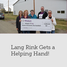 WCU Supports Lang Rink Siding Project