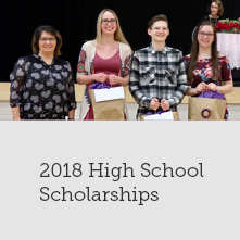 Congratulations to our 2018 high school scholarship recipients!