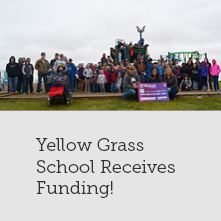 Yellow Grass School Playground Receives a Helping Hand